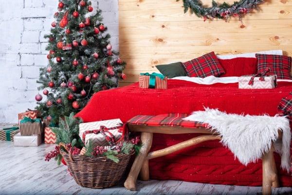 bedroom holiday decor photo