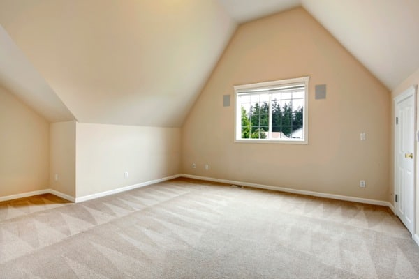 empty finished attic room
