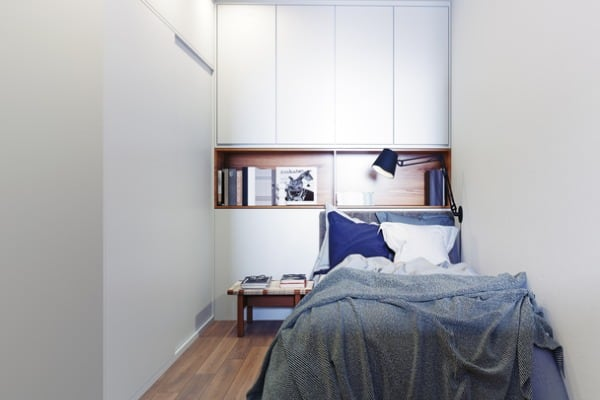 scandinavian style bedroom interior