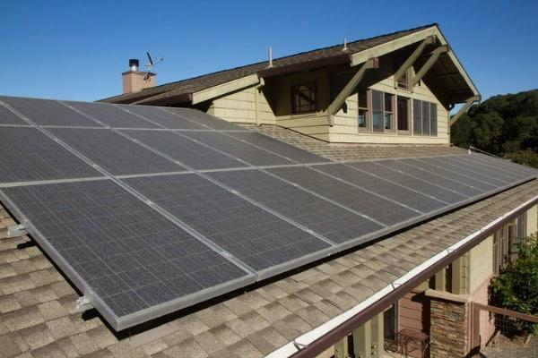 solar panels on roof photo