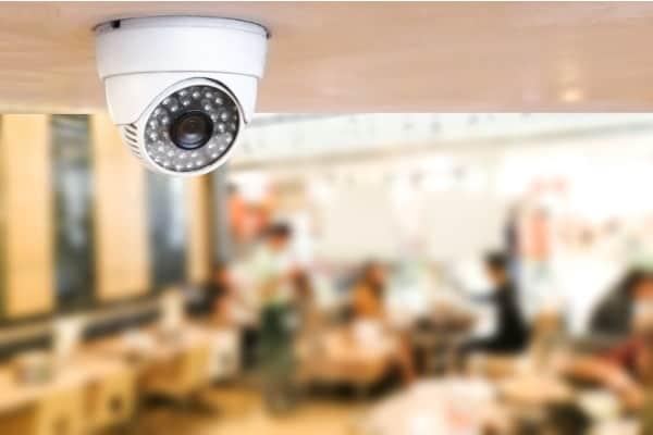 system security inside of restaurantsurveillance camera installed