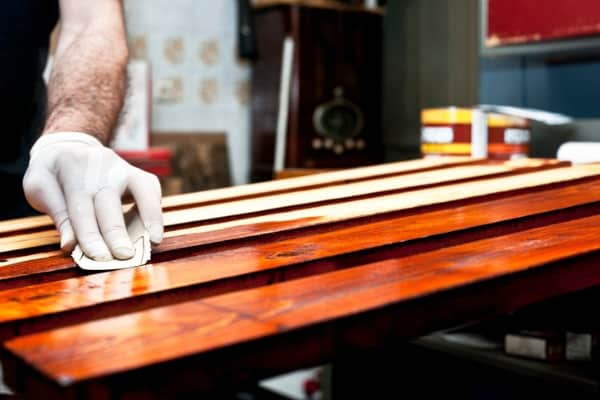 adding stain to wood