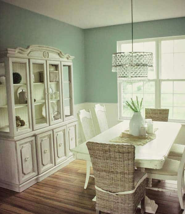 hazel in dining room makeover