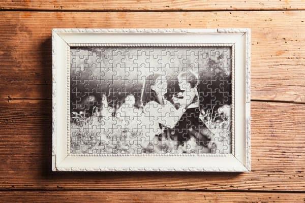 puzzle wall decor photo
