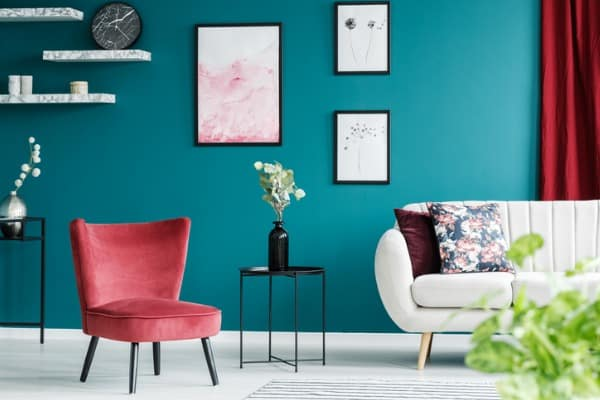red armchair in living room picture id959898298