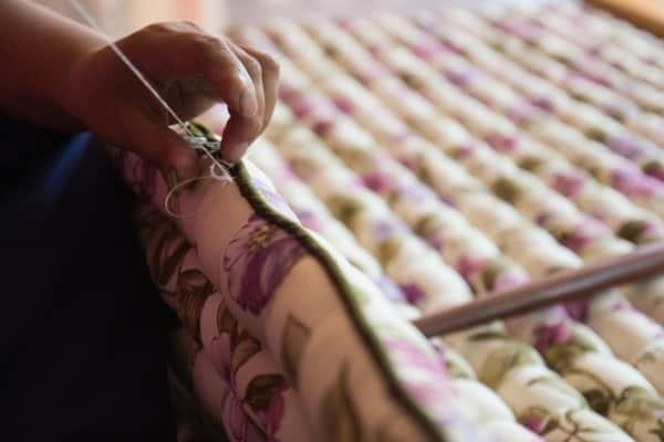 seamstresss hand sewing diy mattress