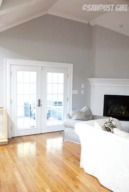 light gray living room photo example