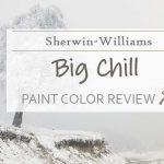 sw big chill paint color review