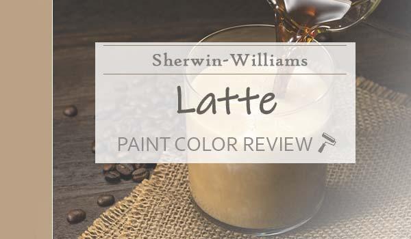 sw latte paint color review