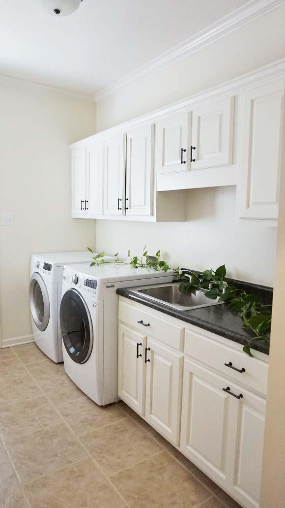 bm nav white laundry room