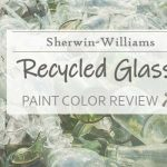 sw recycled glass paint color review