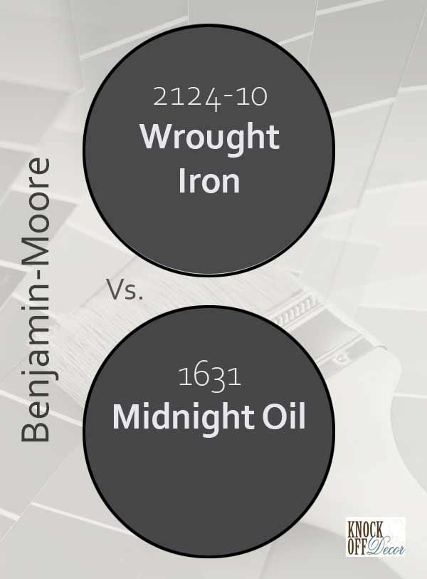 wrought iron vs midnight oil
