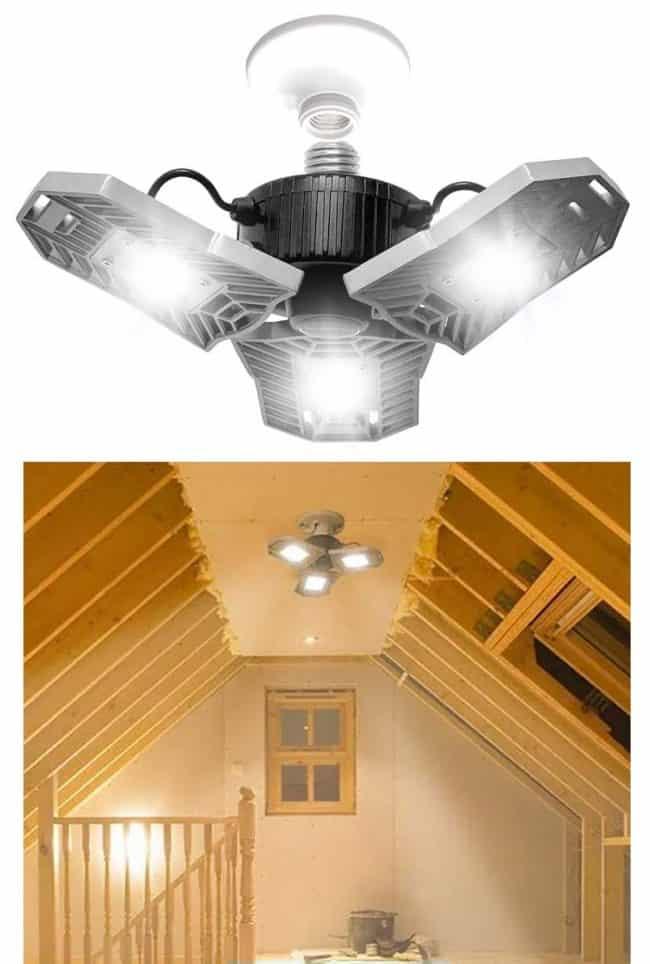 3 bulb attic screw light