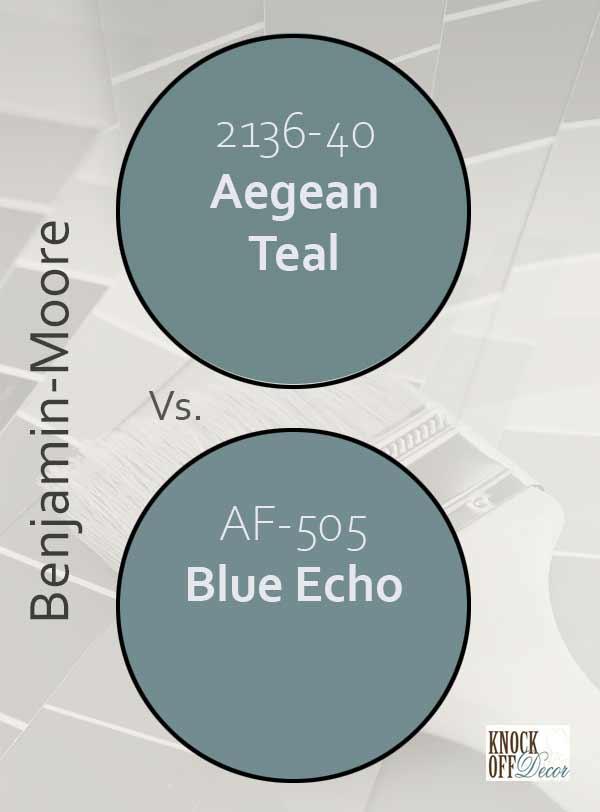 Aegean teal vs blue echo