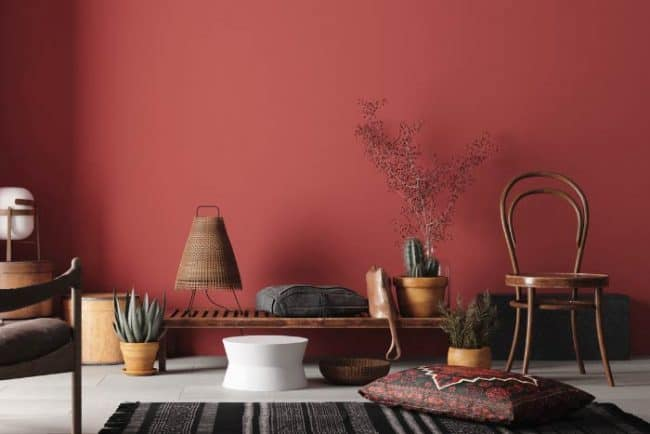 Antique Red living room