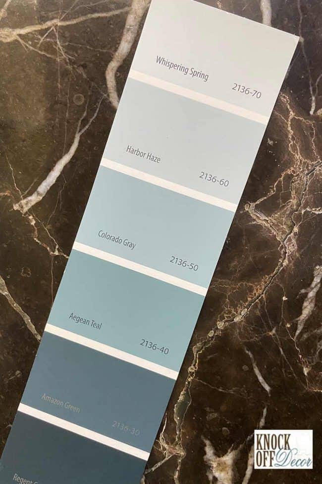 BM Aegean teal single palette