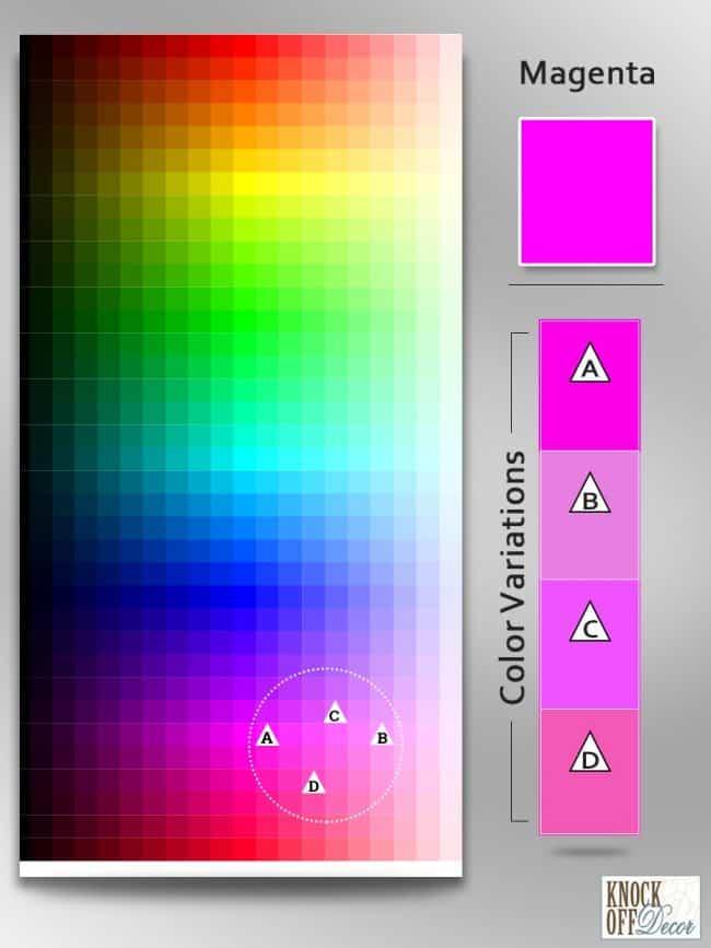 Color Variations magenta