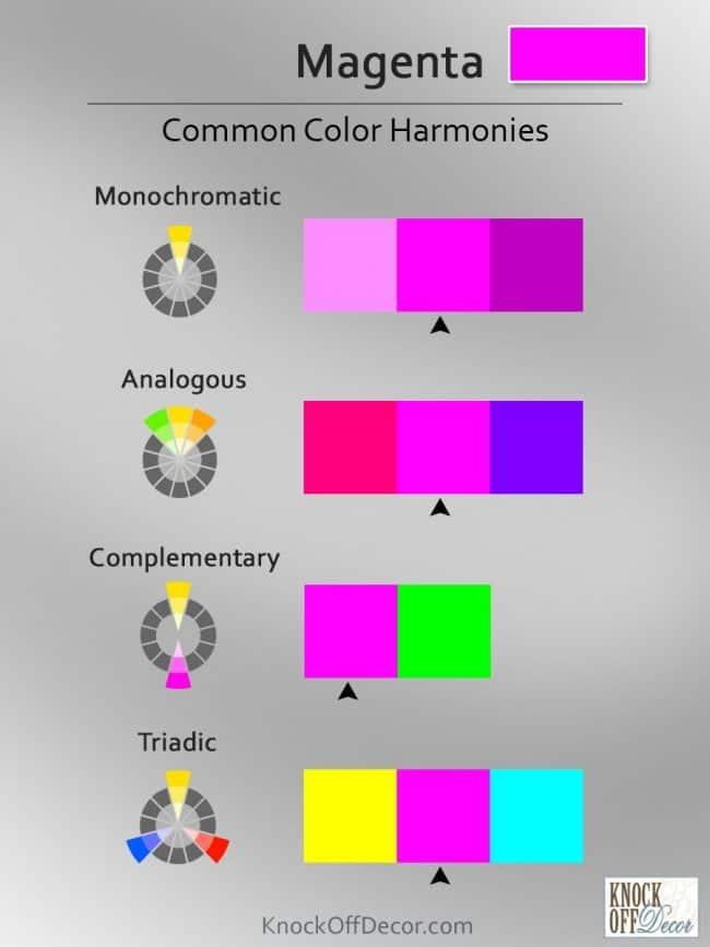 Color coordinations magenta