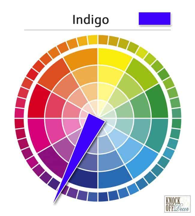 Color on wheel indigo