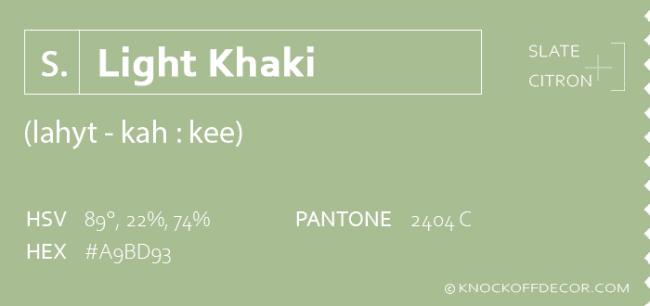 Light Khaki info box