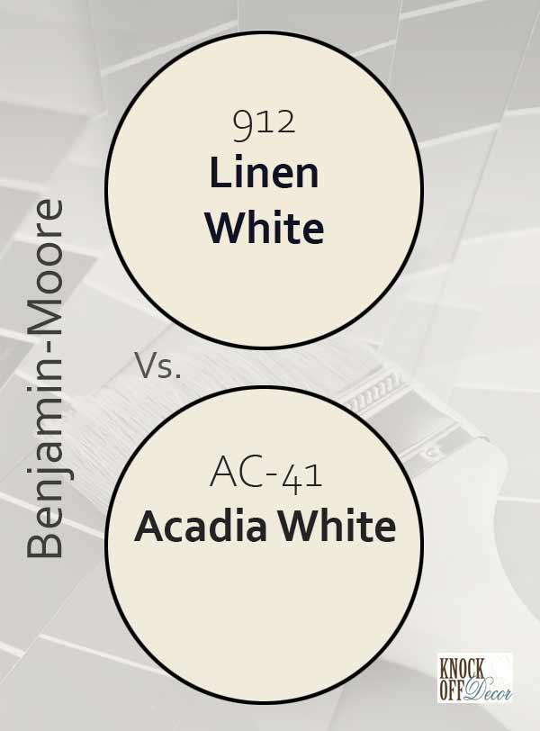 Linen white vs acadia white