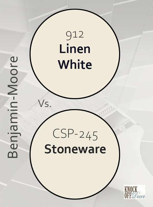 Linen white vs stoneware