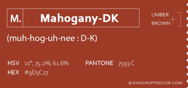 Mahogany D K info box
