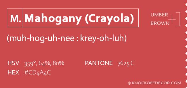 Mahogany crayola info box