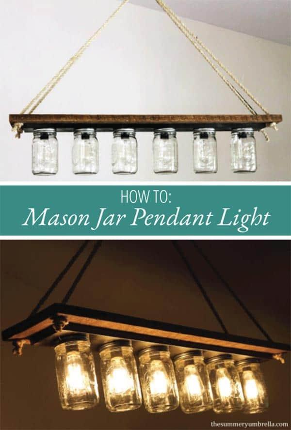 Mounted Mason Jars Add Farmhouse Charm