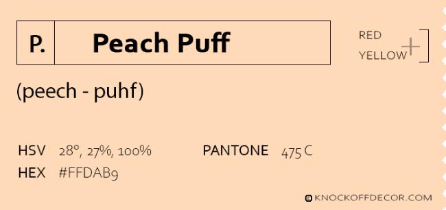 Peach puff box
