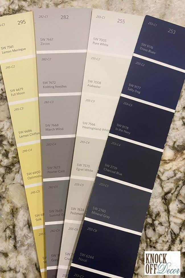 SW Knitting needles coordinated Color Deck