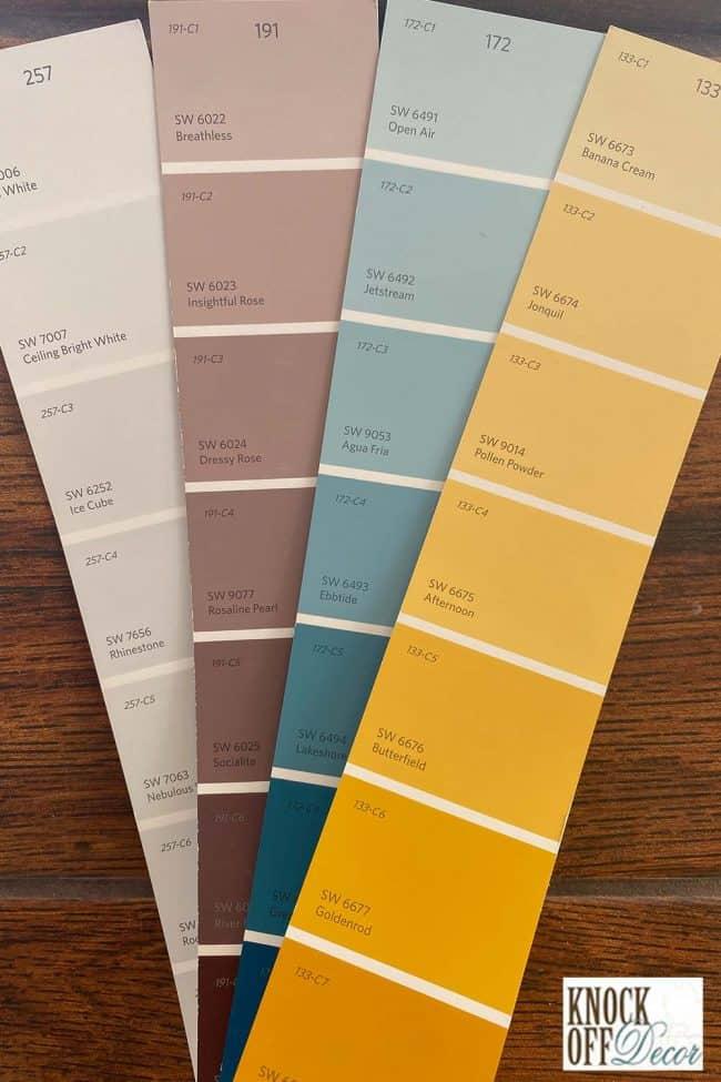 SW Oceanside coordinated Color Deck