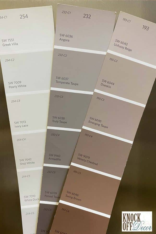 SW Pearly white coordinated Color Deck