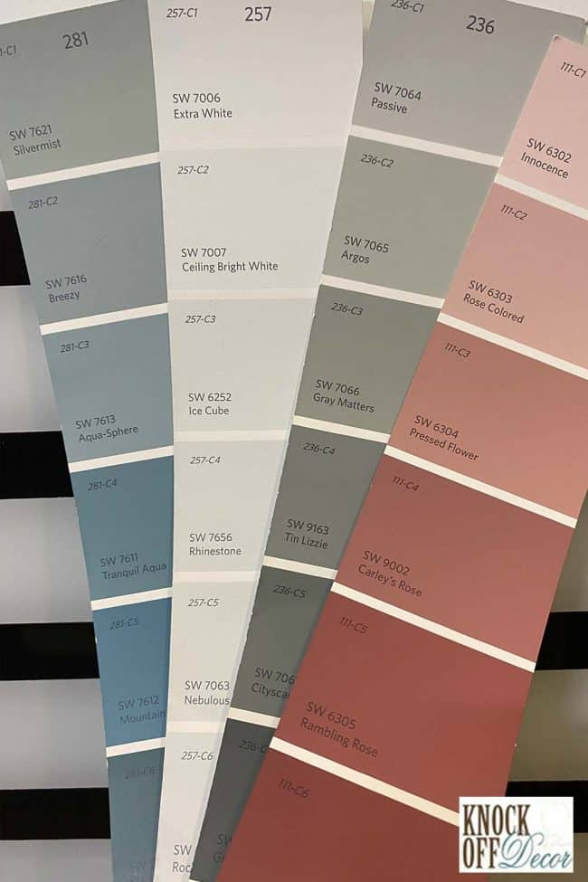 SW Silvermist coordinated Color Deck