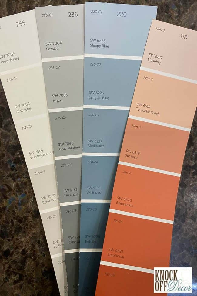 SW Sleepy blue coordinated color deck