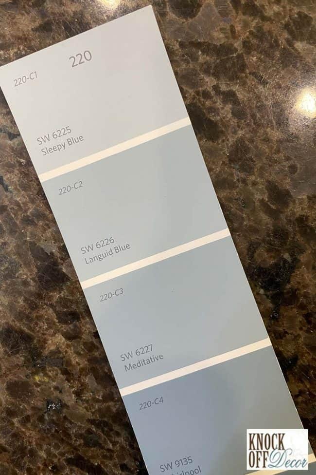 SW Sleepy blue single color deck