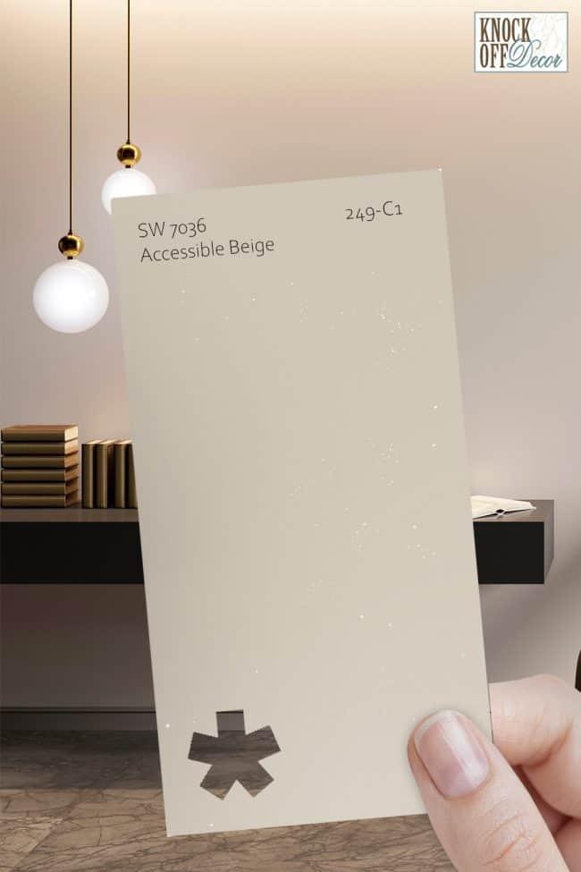 SW accessible beige single paint chip 1