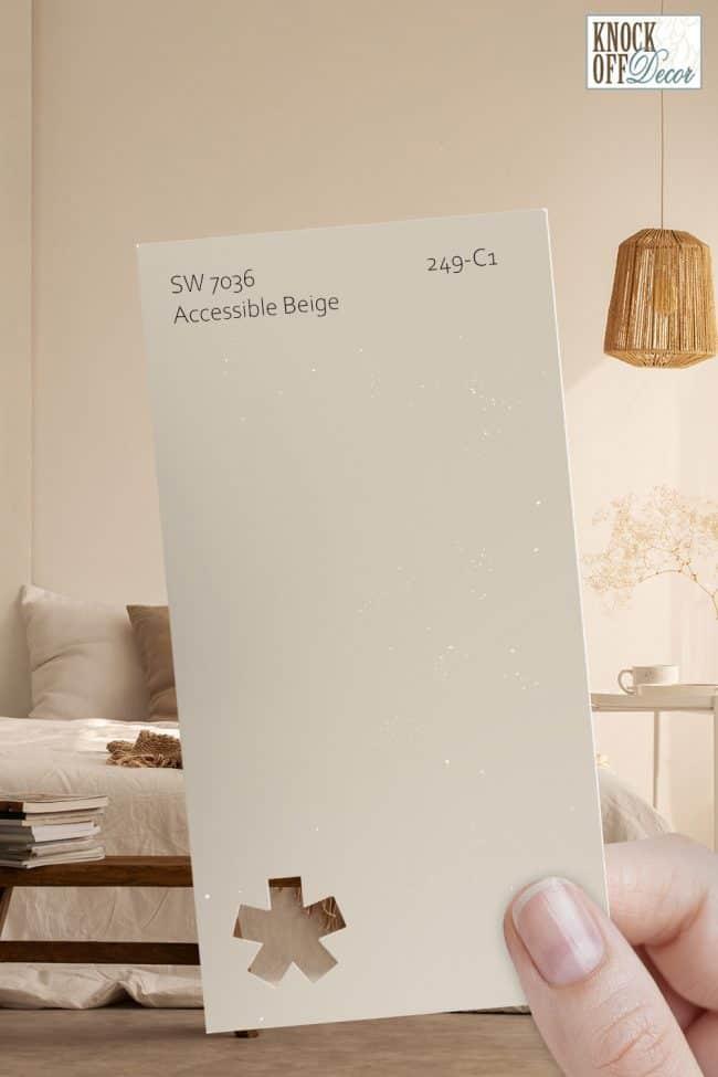 SW accessible beige single paint chip