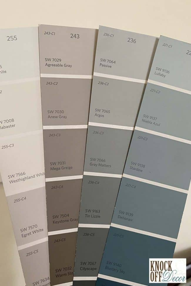 SW agreeable gray coordinated Color Deck