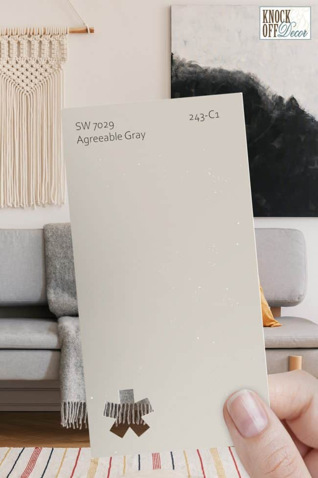 SW agreeable gray single paint chip