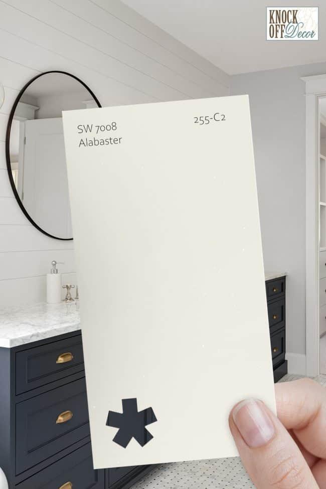 SW alabaster single paint chip 1