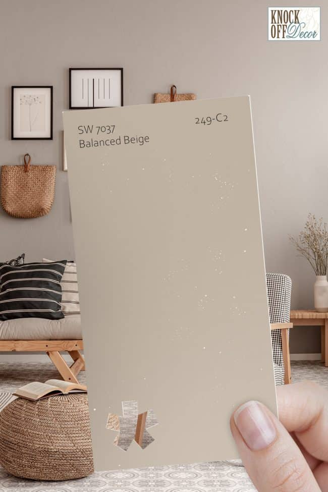 SW balanced beige single paint chip