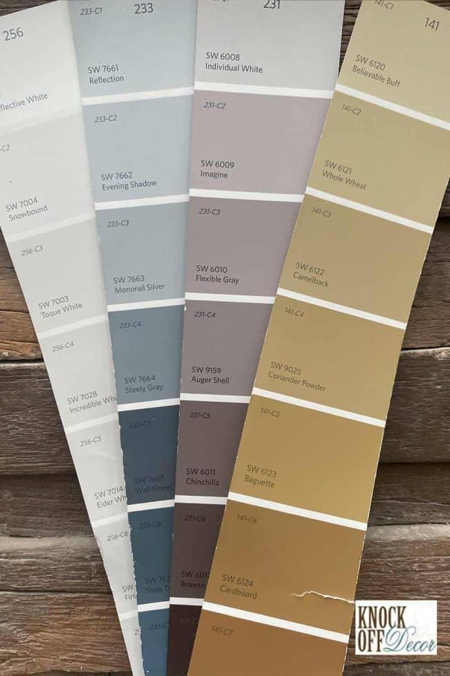 SW eider white coordinated palette