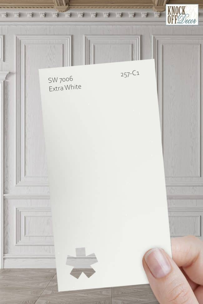 SW extra white single paint chip