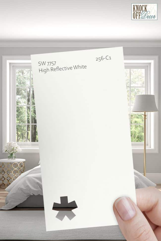 SW high reflective white single paint chip
