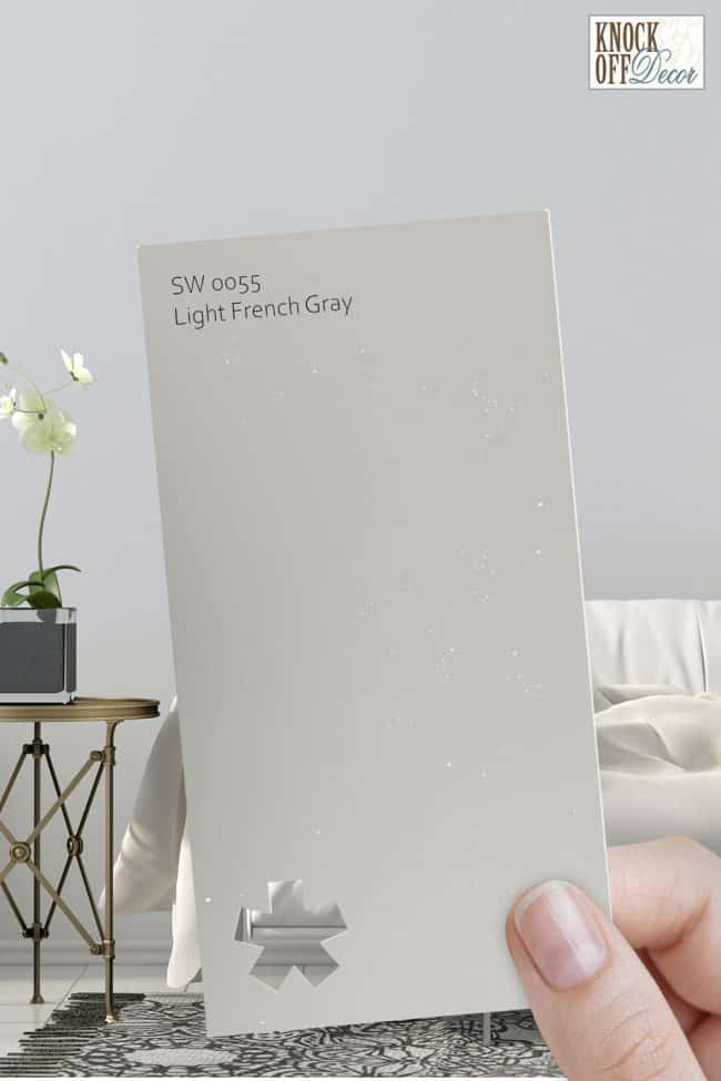SW light french gray single paint chip