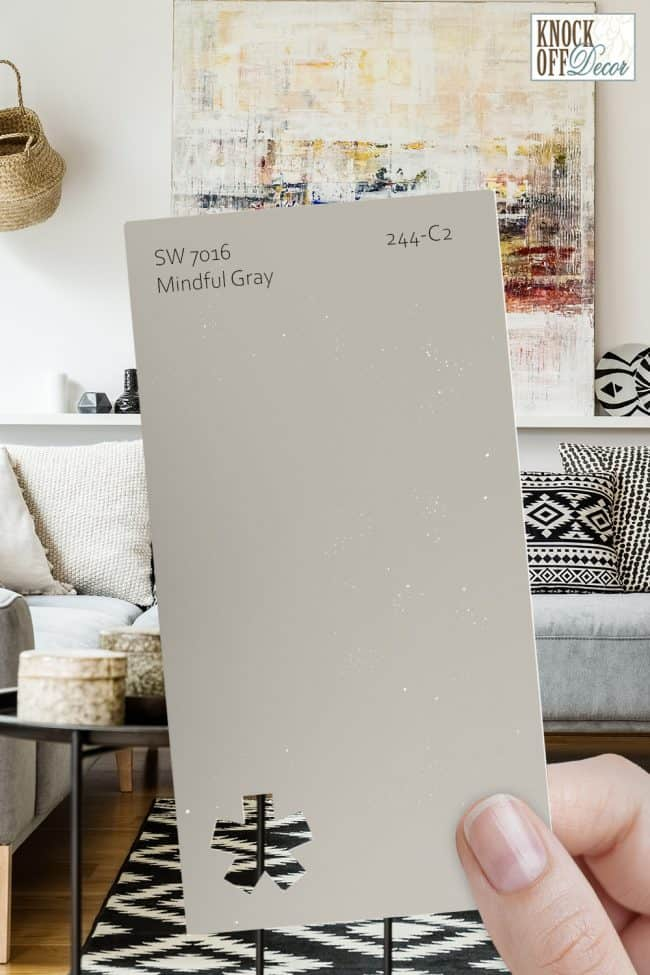 SW mindful gray single paint chip