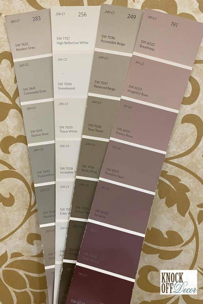 SW modern gray coordinated palette