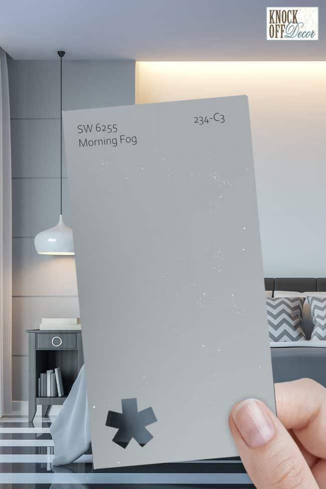 SW morning fog single paint chip 1