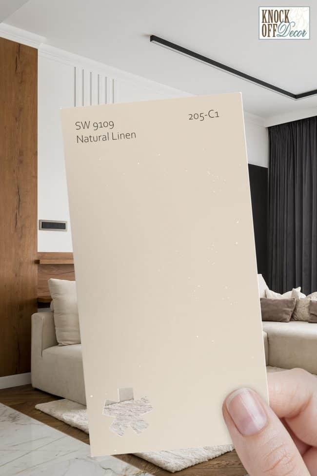SW natural linen single paint chip